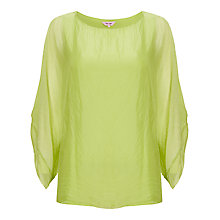 Buy Phase Eight Zinnia Silk Blouse, Lime Online at johnlewis.com