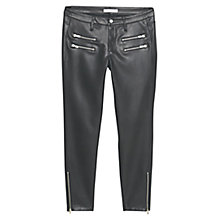 Buy Mango Zip Trousers, Black Online at johnlewis.com