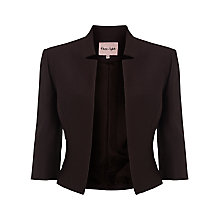 Buy Phase Eight Valentine Cropped Jacket, Aubergine Online at johnlewis.com