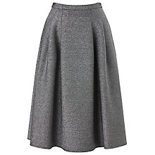 Buy Phase Eight Shimmer Scuba Skirt, Silver Online at johnlewis.com