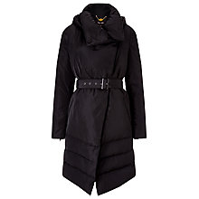 Buy Phase Eight Wrap Neck Padded Coat, Black Online at johnlewis.com
