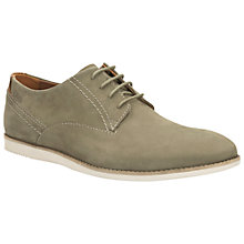 Buy Clarks Franson Plain Nubuck Shoes, Olive Online at johnlewis.com