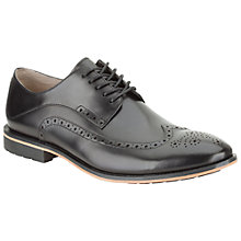 Buy Clarks Gatley Limit Leather Lace-Up Brogues, Black Online at johnlewis.com