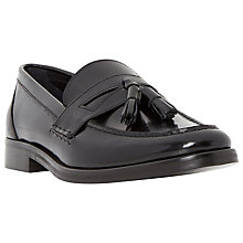 Buy Dune Raegan Leather Tassel Loafers, Black Online at johnlewis.com