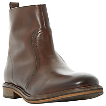 Buy Bertie Caden Leather Zip Boots, Brown Online at johnlewis.com