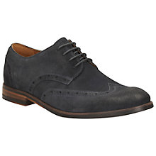 Buy Clarks Exton Suede Brogues, Navy Online at johnlewis.com