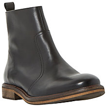 Buy Bertie Caden Leather Zip Boots, Black Online at johnlewis.com