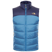Buy The North Face Nuptse Down Men's Gilet, Blue Online at johnlewis.com