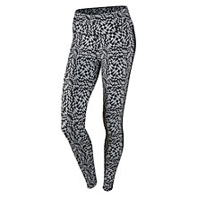 Buy Nike Legendary Checker Running Tights, Black/White Online at johnlewis.com