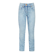 Buy John Lewis Girls' Bleach Wash Jeans, Blue Online at johnlewis.com