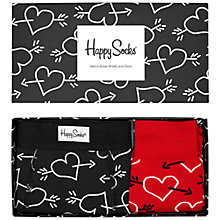Buy Happy Socks Valentine's Day Boxer Briefs/Socks Gift Box Online at johnlewis.com