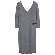 Buy Violeta by Mango Leather Belt Dress, Light Pastel Grey Online at johnlewis.com