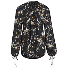 Buy Miss Selfridge Assorted Printed Pussy Bow Blouse, Black Online at johnlewis.com