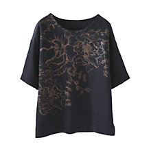 Buy Wrap London Paige Floral Print Sweatshirt, Dark Navy Online at johnlewis.com