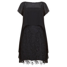 Buy Mint Velvet Cobweb Lace Dress, Black Online at johnlewis.com