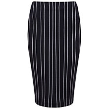 Buy Miss Selfridge Pinstripe Pencil Skirt, Blue Online at johnlewis.com