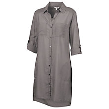Buy Fat Face Emma Longline Shirt Dress, Moleskin Online at johnlewis.com