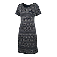 Buy Fat Face Tenby Stitch Jacquard Dress, Navy Online at johnlewis.com