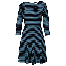 Buy Fat Face Stornoway Jacquard Dress, Nordic Blue Online at johnlewis.com