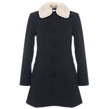 Buy Miss Selfridge Petite Faux Fur Collar Coat Online at johnlewis.com