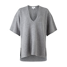 Buy Jigsaw Wool Kimono Tunic, Grey Online at johnlewis.com