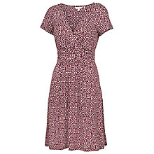 Buy Fat Face Camille Ditsy Snow Dress, Garnet Online at johnlewis.com