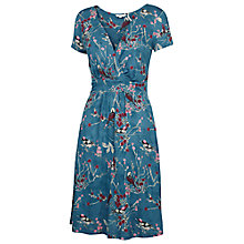 Buy Fat Face Camille Autumn Bird Dress, Nordic Blue Online at johnlewis.com