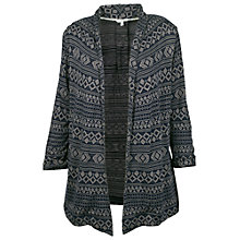 Buy Fat Face Callington Jacquard Cardigan, Navy Online at johnlewis.com