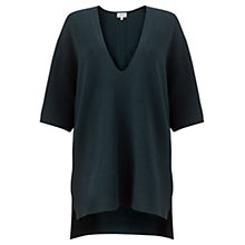 Buy Jigsaw Fleece Wool Kimono Tunic Jumper, Deep Teal Online at johnlewis.com