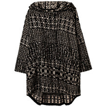 Buy Gerard Darel Jacquard Patchwork Cape Coat, Black Online at johnlewis.com