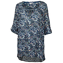 Buy Fat Face Kingston Three Quarter Butterfly Tunic, Navy Online at johnlewis.com