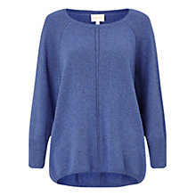 Buy East Scoop Neck Jumper, Indigo Online at johnlewis.com