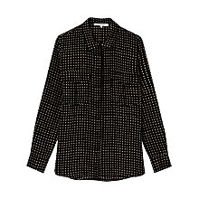Buy Gerard Darel Baylee Silk Shirt, Black Online at johnlewis.com