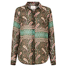 Buy East Alhambra Print Shirt, Khaki Online at johnlewis.com