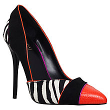 Buy Carvela Aztec High Heel Court Shoes, Pony Black Comb Online at johnlewis.com