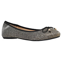 Buy Carvela Melody Flat Ballerina Shoes, Bronze Online at johnlewis.com