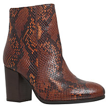 Buy Carvela Sherbert High Heel Ankle Boots, Tan Printed Leather Online at johnlewis.com