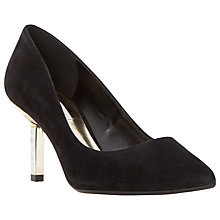 Buy Dune Beatrixx Jewel Stiletto Court Shoes, Black Suede Online at johnlewis.com