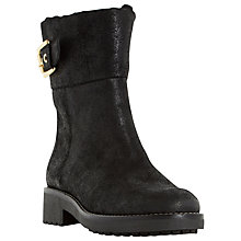 Buy Dune Remi Buckle Detail Long Boots Online at johnlewis.com