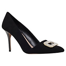 Buy Carvela Garden Court Shoes, Black Suedette Online at johnlewis.com