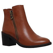 Buy Carvela Skim Mid Heel Side Zip Ankle Boots Online at johnlewis.com