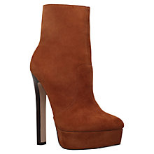 Buy Carvela Sizzle High Heel Ankle Boots, Tan Suede Online at johnlewis.com