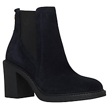 Buy Carvela Spark Mid Heel Ankle Boots, Navy Suede Online at johnlewis.com