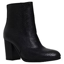 Buy Carvela Sherbert High Heel Ankle Boots, Black Printed Leather Online at johnlewis.com