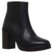 Buy Carvela Sharon Block Heel Ankle Boots, Black Leather Online at johnlewis.com