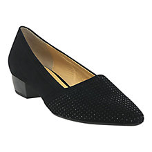 Buy Gabor Azalea Block Heeled Pumps, Black Suede Online at johnlewis.com