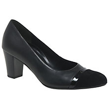 Buy Gabor Deal Wide Fitting Court Shoes, Black Leather Online at johnlewis.com