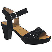Buy Gabor Abe Embellished Block Heeled Sandals, Black Suede Online at johnlewis.com