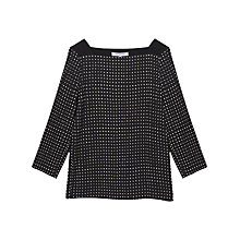 Buy Gerard Darel Belge Print Top, Black Online at johnlewis.com