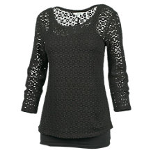Buy Fat Face Lace 2-In-1 Three Quarter Sleeve Top Online at johnlewis.com